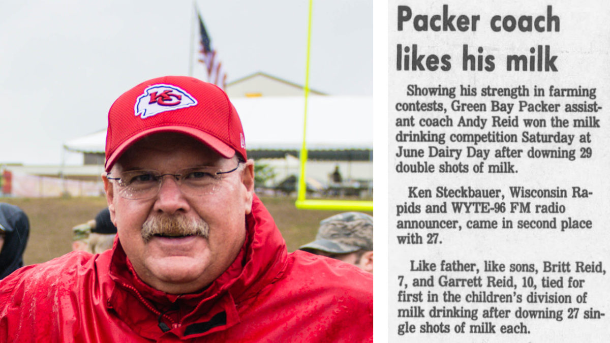 Andy Reid and milk